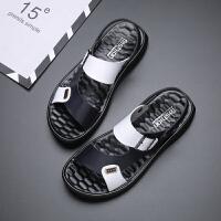 宜驰 EGCHI 凉鞋休闲男士沙滩时尚防滑耐磨两穿套脚凉拖 K501