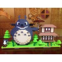 兼容乐高大小颗粒百变积木 儿童益智拼装玩具 场景龙猫 玛丽礼物