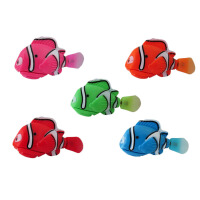电子鱼玩具 会游泳的玩具鱼会跑摇摆鱼发光的游泳鱼 尼莫