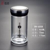 单层玻璃杯加厚带盖男女士便携耐热胖胖泡茶透明玻璃水杯