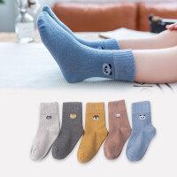 儿童中筒袜 男女童韩版卡通图案棉质童袜子中大童宝宝中筒袜舒适可爱儿童袜子