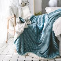 ins网绒毯双层羊羔绒毛毯春秋加厚午睡毯单双人空调毯 200cmx230cm 双人毛毯
