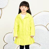 【秒杀价:315元】马拉丁童装女大童外套春装2020年新款黄色休闲中长款风衣外套
