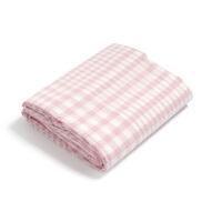 新水洗格子棉单人床单单件 棉床笠单件双人简约床罩床品q 粉红色 粉格