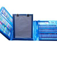 儿童绘画套装幼儿园水彩笔美术画笔宝宝画画工具美术用品小学生 176件蓝色套装 *包