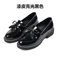平底单鞋女新款秋春季复古英伦小皮鞋女学生韩版鞋子