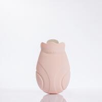 硅胶热水袋 注水暖水袋充水针织外套防爆暖手宝 粉色 小号270ML