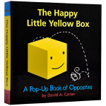 英文原版 The Happy Little Yellow Box 开心的黄色盒子 精装立体书 儿童启蒙认知玩具书 亲子