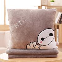 被子抱枕二合一 加厚毛毯抱枕被子两用卡通靠枕头二合一靠垫被午睡被办公室