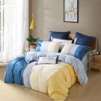水星家纺  全棉印花四件套床单被套床上用品2019新品 西尔瑞 格里 格里亚