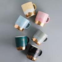 金边陶瓷杯子创意个性潮流马克杯北欧ins男女情侣款咖啡杯