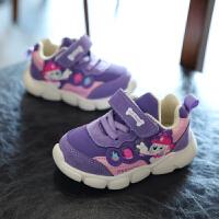 女童运动鞋秋冬季2018新款男童加厚二棉鞋子1-3岁软底宝宝机能鞋2