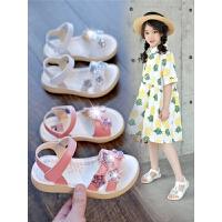 女童凉鞋夏季儿童亮片公主鞋学生软底防滑鞋子
