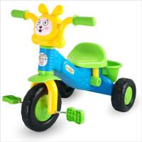 儿童三轮车大号童车小孩自行车婴儿脚踏车玩具宝宝单车1-2-3岁溜娃车 音乐版 三轮车 蓝色