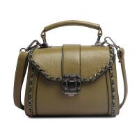 女士包包新款锁扣女包手提小方包百搭时尚单肩包链条夏斜挎包