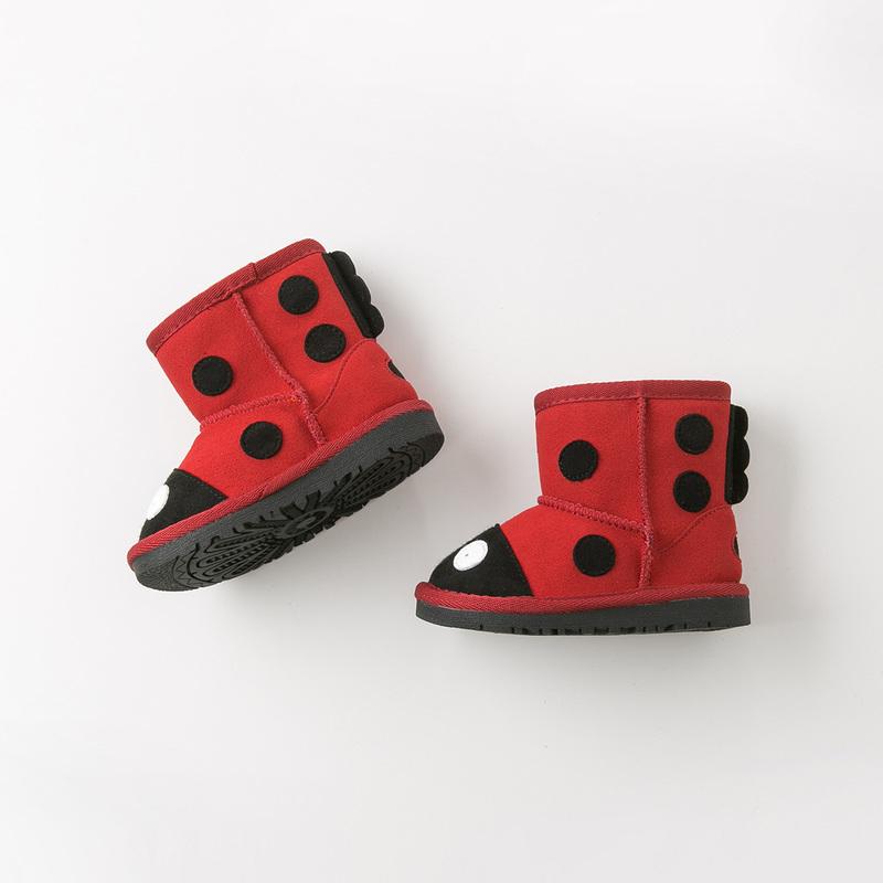 davebella戴维贝拉童装冬季新款女童靴子宝宝加绒保暖棉靴DB10950