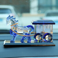 汽车香水座创意古典车饰水晶马车模新车礼品车上用品车内装饰品抖音