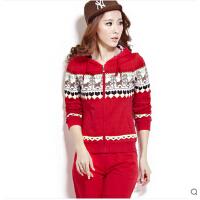秋季女士韩版 休闲 卫衣长袖装修身运动服女士套装