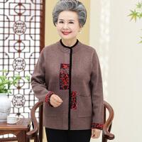 中老年毛衣中老年女装外套妈妈冬装加大码开衫毛衣加厚衫60-70-80岁上衣