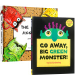 英文原版进口书 趣味情绪认知绘本2册 Go Away Big Green Monster 走开大绿怪The Color