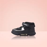 TARANIS 泰兰尼斯冬季宝宝软底学步鞋男女小童加绒加厚机能鞋运动鞋1-3岁