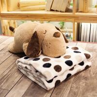 卡通抱枕被子两用靠垫汽车珊瑚绒办公室空调被靠枕毯午睡枕头可爱定制