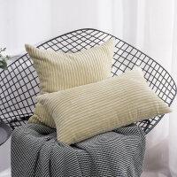 客厅沙发灯芯绒抱枕套床头大靠枕汽车办公腰靠靠垫现代简约不含芯