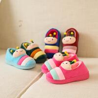 冬季棉鞋室内包跟毛毛虫儿童小童中童宝宝舒适棉鞋