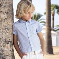 davebella戴维贝拉kids2020夏季新款男童衬衫中大童衬衣DKS13452