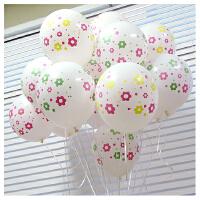 孩派HighParty生日用品 12寸乳胶气球 满天星 花朵 1个