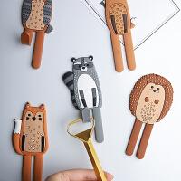 卡通可爱动物冰箱贴磁铁挂钩北欧创意早教白板磁贴钥匙挂钩