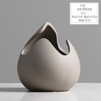北欧摆件家居装饰品陶瓷花器 简约创意蛋壳小花瓶装饰品摆设花艺抖音