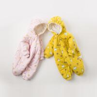 【夹棉】davebella戴维贝拉童装冬季新款男女宝连体衣DBH11925