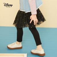 【3折�A估�r:51.2元】迪士尼童�b2020春季新款�����和�女�L�子女童星星�W�裙式打底�