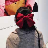 韩国大蝴蝶结发夹后脑勺发饰女顶夹jk发卡夹子头饰少女童边夹发绳