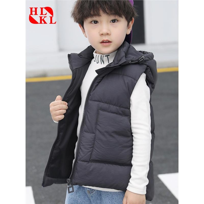 秋冬季童装儿童羽绒棉马甲外套中小童马甲背心童装秋冬款