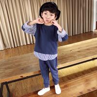 儿童运动套装男童春秋潮装帅气大童两件套