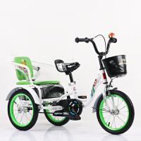 三轮车脚踏车带斗双人自行车2-9岁充气轮胎童车小孩单车3-6岁