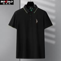 短袖Polo衫男士青年修身有领T恤夏季字母巴宝莉风纯色免烫保罗衫 伯克龙PSL2003