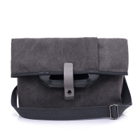 男士单肩斜挎包帆布大容量13寸电脑手提包休闲商务两用大号包