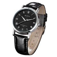 男士手表 简约超薄皮带 韩版夜光休闲防水 学生石英表