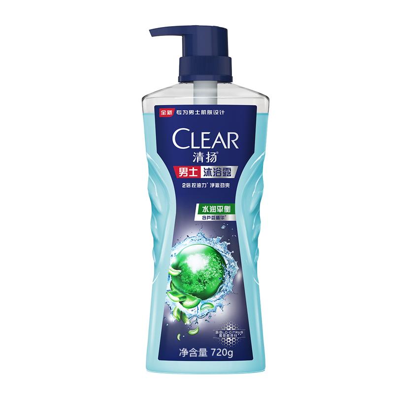 【每满100减50】清扬(CLEAR)沐浴露 男士平衡控油 水润平衡720g 新老包装随机发货
