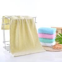 大红结婚回礼用的毛巾棉双喜加厚洗脸吸水柔软q 黄色 菱形块毛巾 73x33cm