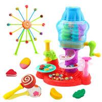 儿童橡皮泥无毒粘土彩泥模具工具糖果摩天轮厨房过家家玩具男女孩