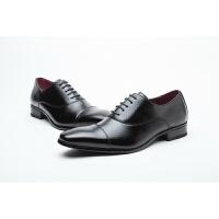 日系男鞋男士正装单鞋三接头绅士鞋休闲皮鞋
