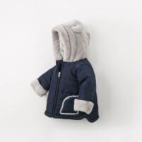 davebella戴维贝拉童装冬季新款男童加绒棉服宝宝保暖棉衣DB11631