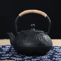 铁茶壶日本南部生铁壶茶具烧水煮茶老铁壶铸铁茶壶日本铁壶纯手工泡茶壶功夫茶具铸铁壶无涂层 牡丹壶