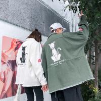 春秋季情侣款外套男士潮牌大码宽松工装夹克ins学生上衣韩版潮流