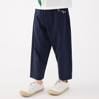 【秒杀价:135元】马拉丁童装男童裤子2020夏装新款宽松休闲裤针织长裤儿童裤子