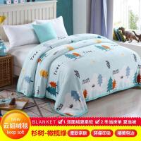 冬季法兰绒毛毯被子珊瑚绒毯子加厚双人单人学生宿舍儿童保暖床单定制